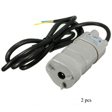 2 pcs 6~12V DC 1.2A Mini Motor Water Pump Micro Submersible 600L/h 12V DC Pump