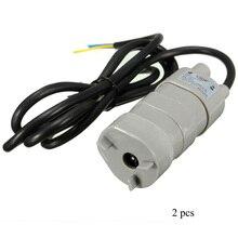 Bomba de agua de Mini Motor, 2 uds., 6 ~ 12V CC, 1,2 a, Micro sumergible, 600L/h, 12V CC