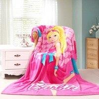 МСП девушка мультфильм 150 * 200 домой спать одеяло покрывало ватки фланель ткани супер мягкие Deal