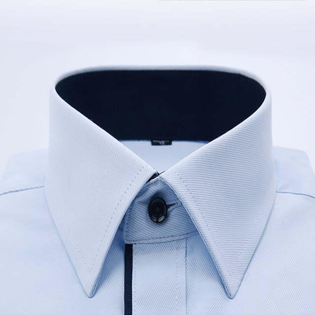 2205c7c84719cc 2019 mężczyzn ślub koszulka z długim rękawem mężczyzn koszule człowiek  biznesu Party stałe koszula na co dzień pracy nosić formalne szczupła  koszula męska ...