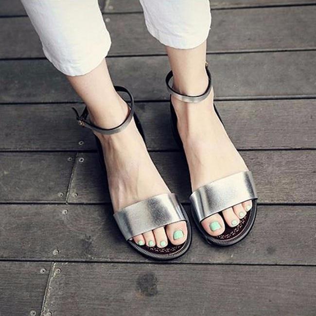 Стильные босоножки на плоской подошве с Алиэкспресс