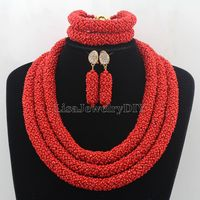 African Jewelry Sets Nigerian Beads Wedding Jewelry Set Bridal Statement Jewelry Set Womens Jewellery Set HD7428