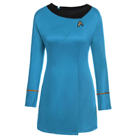 High Quality Star Trek Female Uniform Dress Cosplay Costume Free Shipping