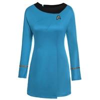 High Quality Star Trek Female Uniform Dress Cosplay Costume Free Shipping