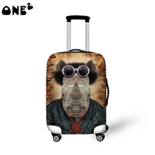 ONE2 new design hot sale cartoon pattern elastic travel luggage cover for 22-26 inch suitcase transparent luggage cover