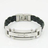 браслеты evbxgsl бесплатная доставка 12 мм шириной 8.5 дюймов из нержавеющей стали человек. оптовая продажа мода ювелирных изделий кожа