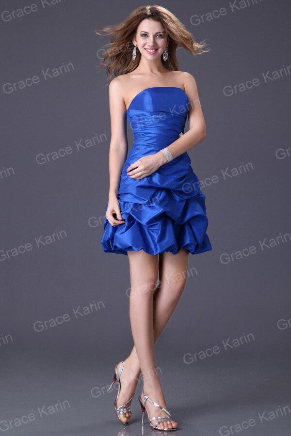 Venta caliente 4 colores violeta azul mujeres noche corto vestidos ...