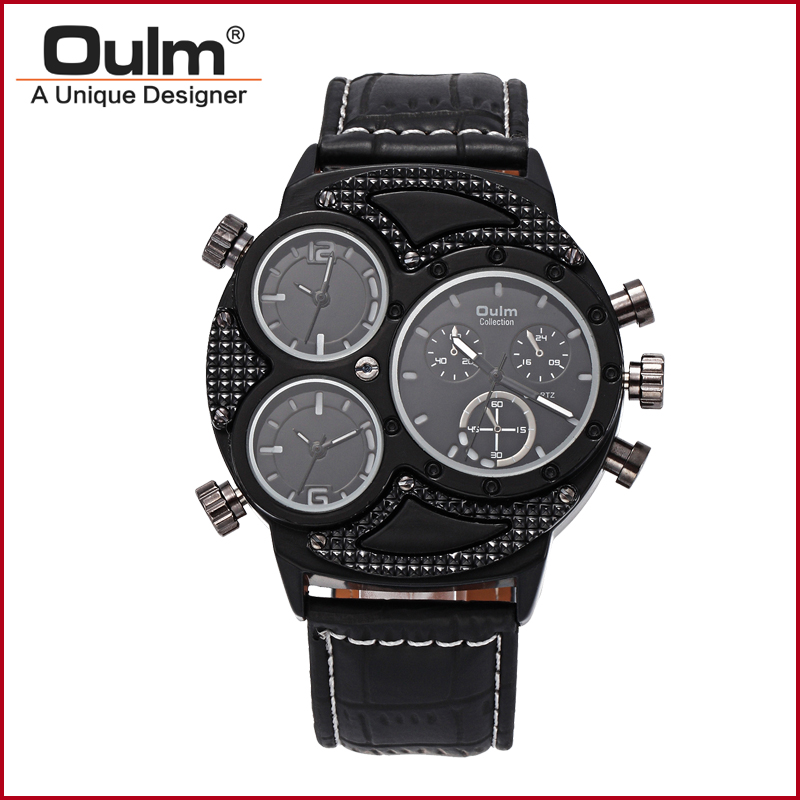 2016 New Arrival Men Design Factory Selling Wrist Watch Oulm Brand Hot Model HP3594 2 Three