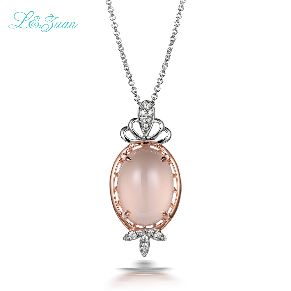 I&zuan 925 sterling silver natural 4.25ct pink rose quartz fairy pendant necklace for women romantic fine jewelry wedding party 2 3mm red natural agate necklace multi layers 925 sterling silver with real pearl fine womne jewelry wedding party necklace