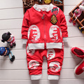 2016 Baby Boy&Girls  Four Color Clothes Children Cartoon Clothing Set Hoody Coat+Pants, Toddler Tracksuits For  Boys Girls