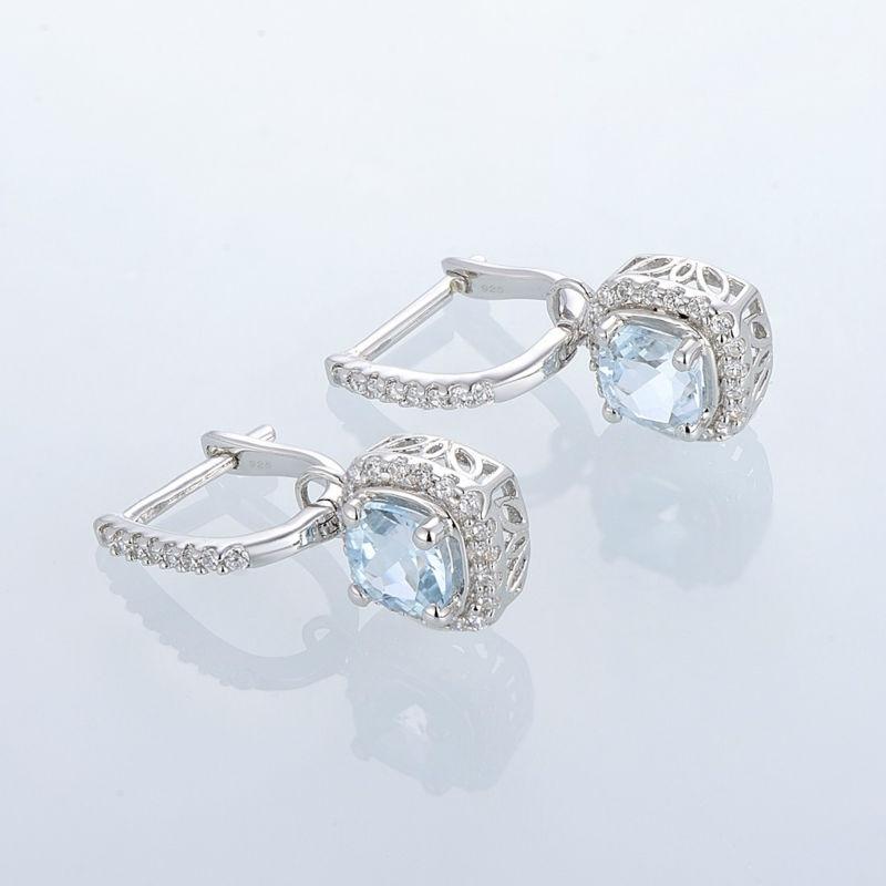 Silver EarringsE301120BKZSL925-SV4-W