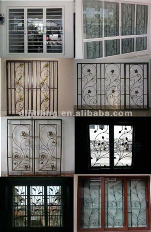 Balcony Casement Window Window Grill Design Aluminium Window Grill