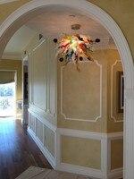 Современная новейшая дизайнерская Люстра для коридора с светодиодный лампочкой ручное выдувное муранское стекло