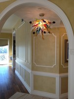 Modern Latest Design Style Chandelier for Corridor with LED Bulbs Hand Blown Murano Glass