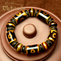 Fashion Black Vintage Charm Bead Bracelet For Men AgateStone Jewelry Bracelets & Bangles Gift