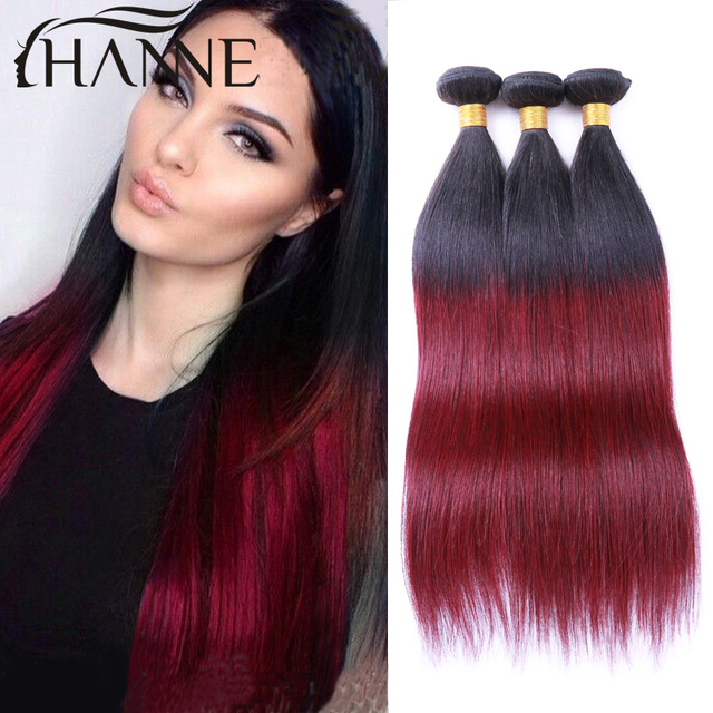 Ombre Hair Extensions Malaysian Straight Hair Weave 3pcs 1bblue Or