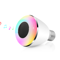 Dimmable BL 08A Smart LED Bulb E27 6W APP Controlled Wireless Bluetooth 4.0 Lamp Music Audio Speaker Light AC100 240V