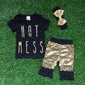 Новые девушки летом дизайн короткими рукавами наряды девушки бутик одежды горячей шутите с шорты брюки летние комплекты с повязка на голову