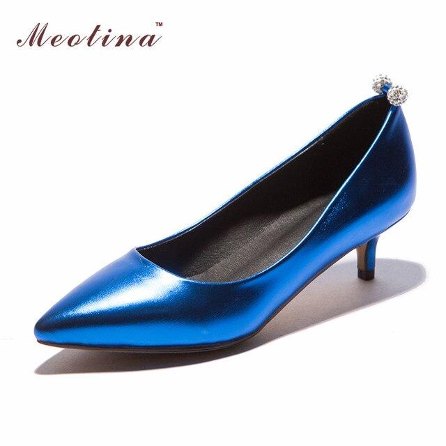 Meotina mujeres zapatos punta estrecha tacones med comfort office lady trabajo zapatos de Las Mujeres de Las Señoras Bombas Tacones Rojo Astilla Gran Tamaño 42 43