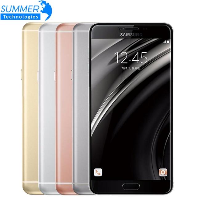 Original Samsung Galaxy C7 Mobile Phone 4G LTE Android 6.0 4GB RAM 32/64GB ROM 16MP Camera 5.7 Inch Dual SIM Smart Cell Phones