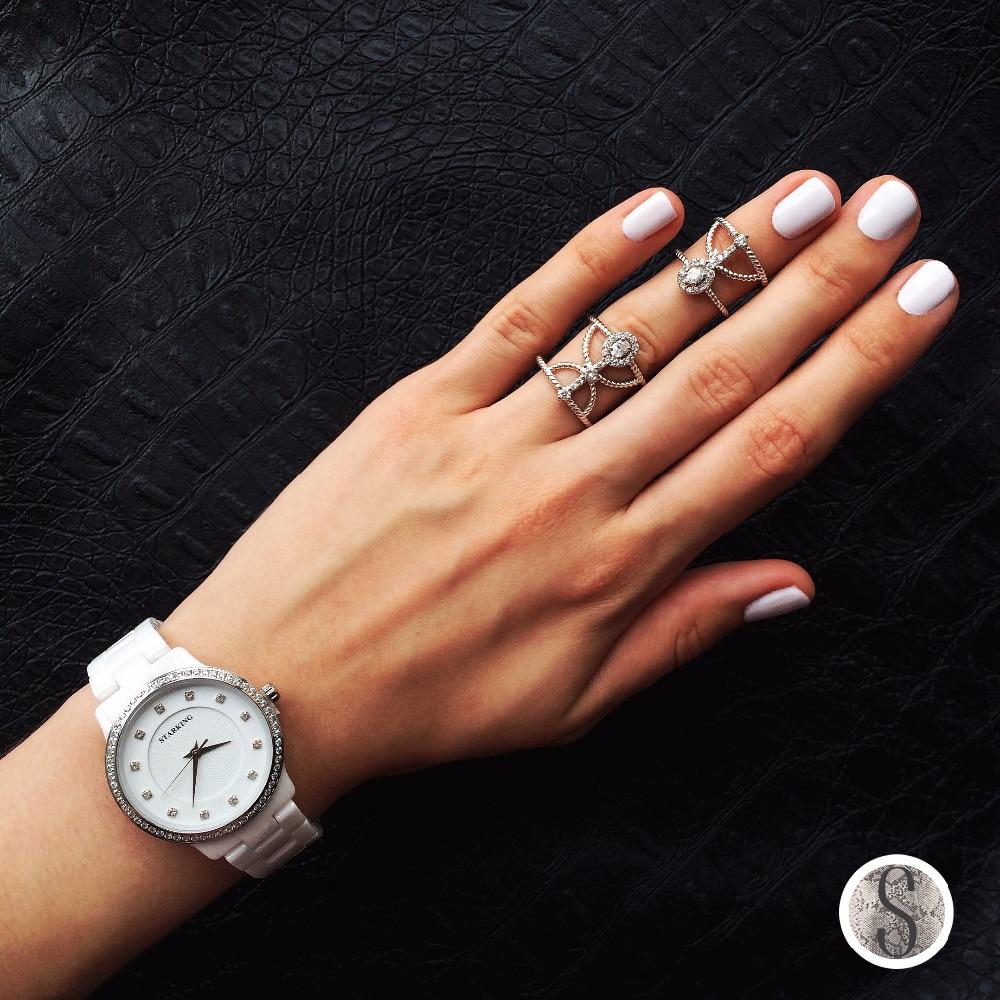 Керамические часы с кристаллами бренда STARKING с Алиэкспресс