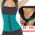 plus size women sweat enhancing waist cincher corset workout waist trainer sauna suit sexy vest hot shaper body sexy top E12