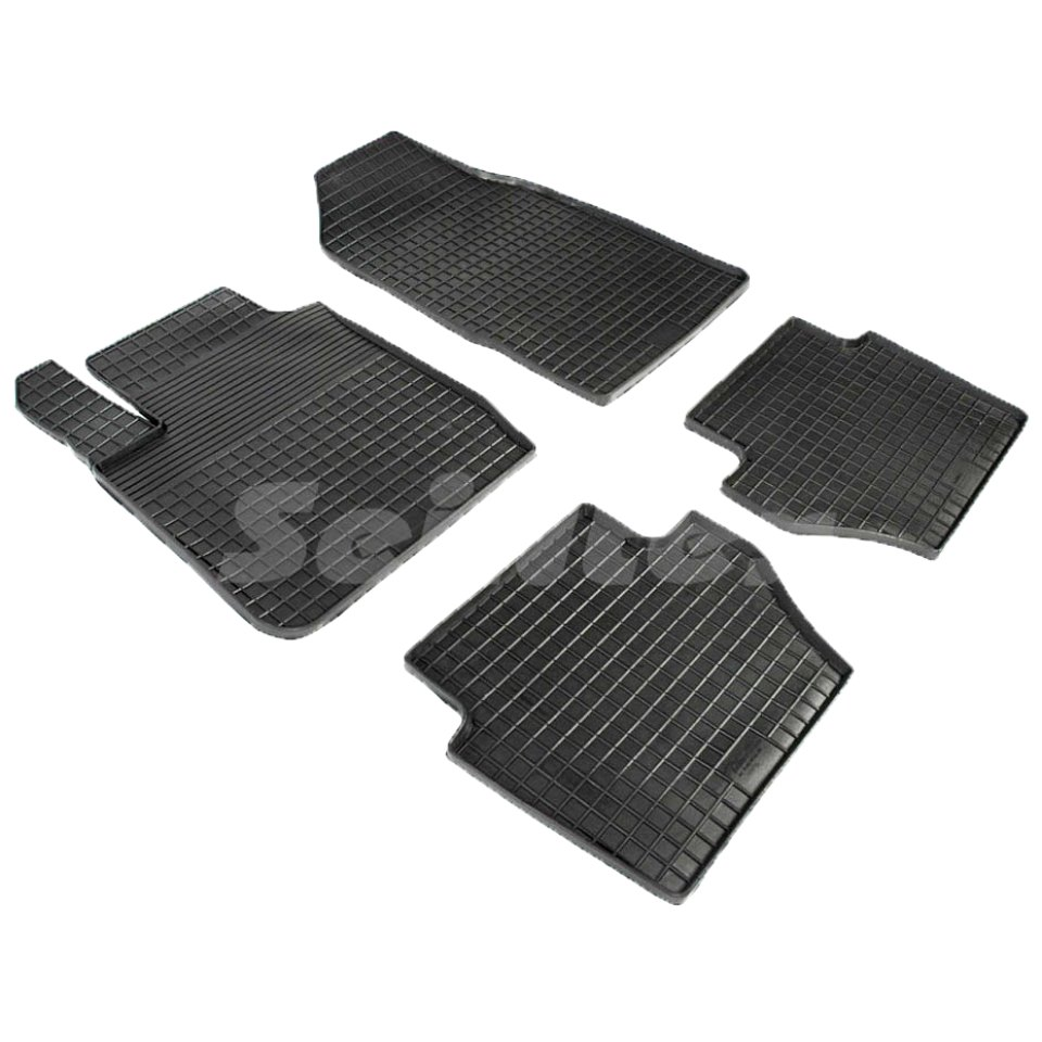 лучшая цена For Ford Fiesta 2008-2014 rubber grid floor mats into saloon 4 pcs/set Seintex 00861