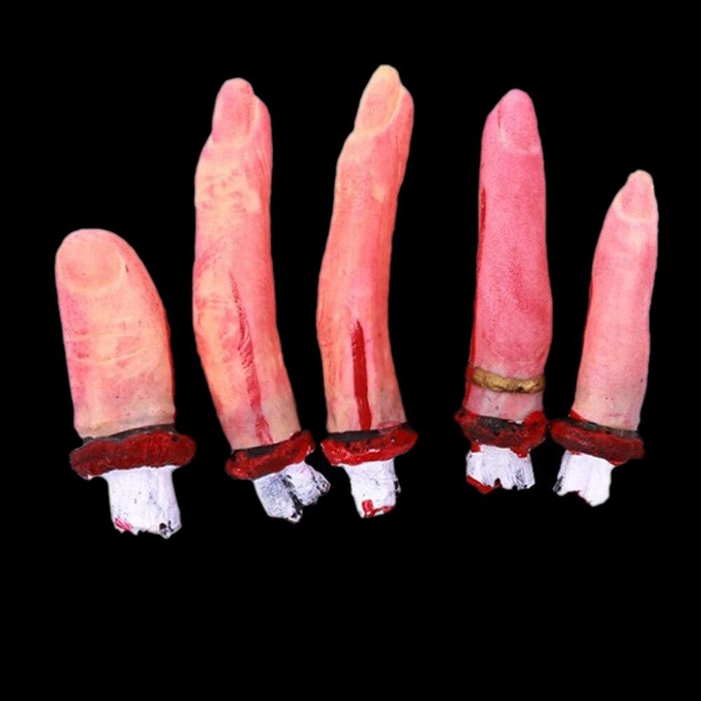 Divertido juego de terror de halloween 5 unids/set imitación dedos rotos masquer