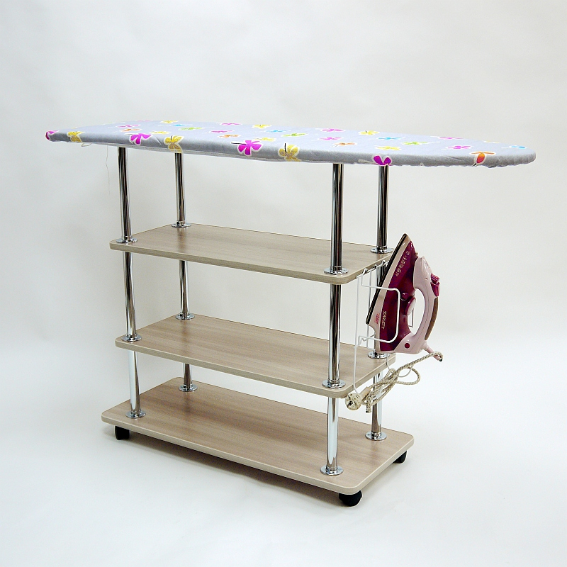 Ironing Board With Shelves For Storing The Laundry Necessary Furniture House Bathroom Living Room