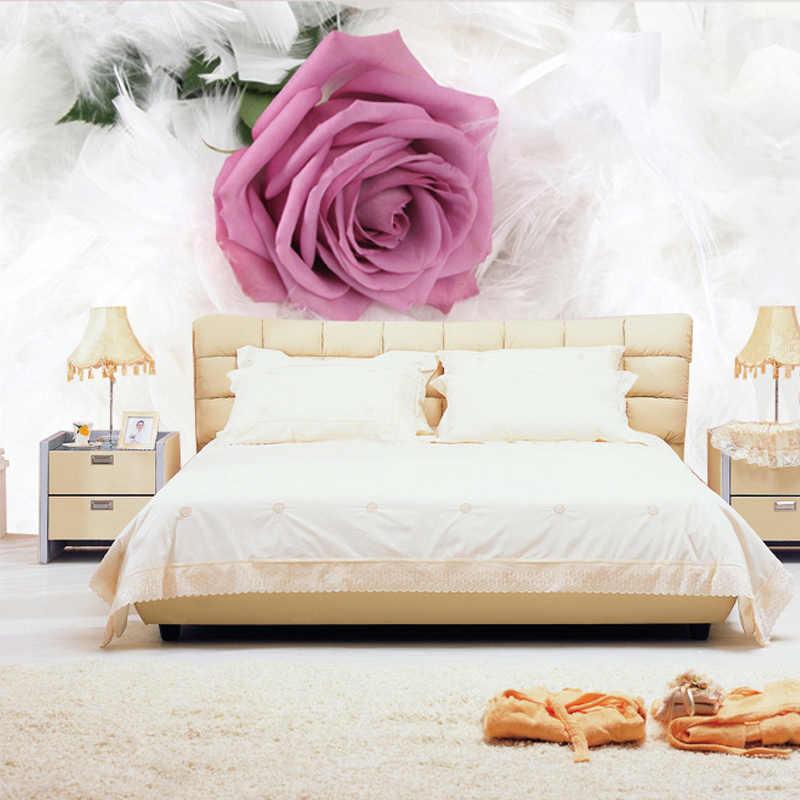 カスタム写真の壁紙ヨーロッパスタイルのロマンチックな花 3D 壁画結婚リビングルーム不織布プリント壁紙 3D