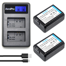 2x 2000mAh NP FW50 NP FW50 NPFW50 Battery LCD Dual Charger For Sony Alpha a6500 a6300