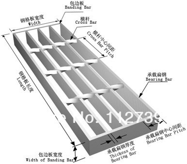 Steel Grating, Pressure Lock, Anping Professional Grate Producer, Bearing  Bar Thickness 3mm, Height 25mm