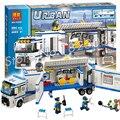 394 unids 2016 bela 10420 unidad móvil de la policía de la policía de la ciudad modelo kit de construcción de bloques niños niñas juguetes compatibles con lego