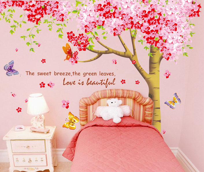 Extra Large Cherry Tree with Tree Trunk Wall Art Mural Decor Poster ...