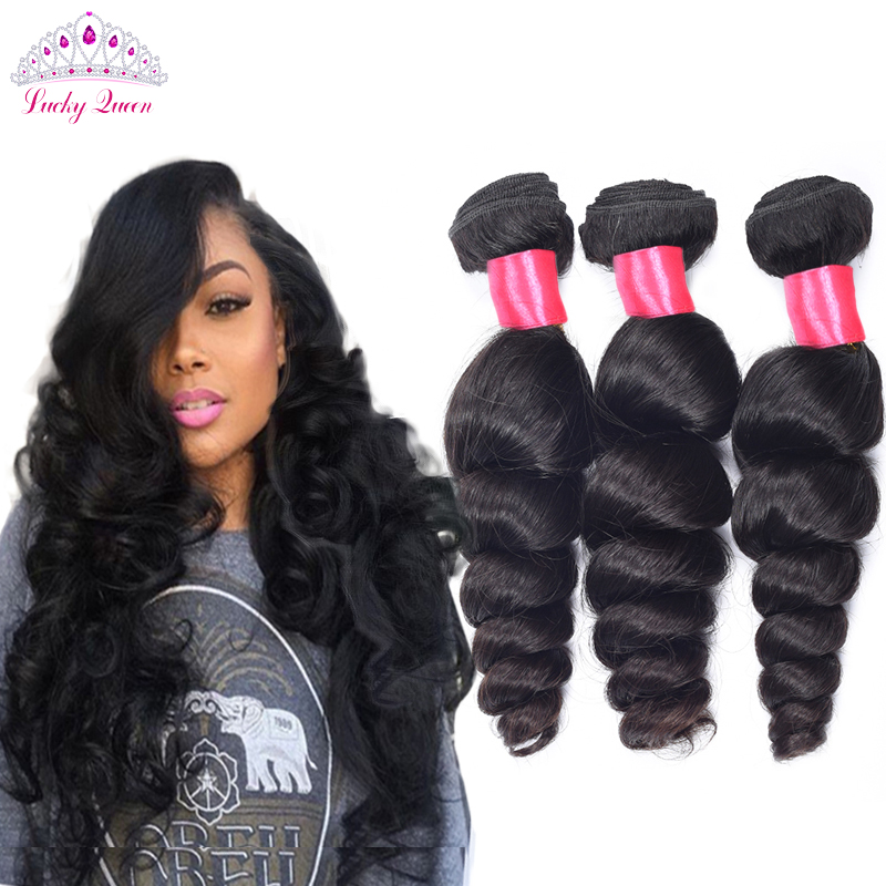 7a Brazilian Virgin Hair Loose Wave 3 Bundles Brazilian Loose Wave Hair Unprocessed Human Hair Brazillian Hair Weave Bundles