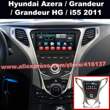 2 Din Radio Gps Car Multimedia System For Hyundai Azera 2011 2012 2013 HD Video Octa Core Car  DVD Player Steering Wheel Control