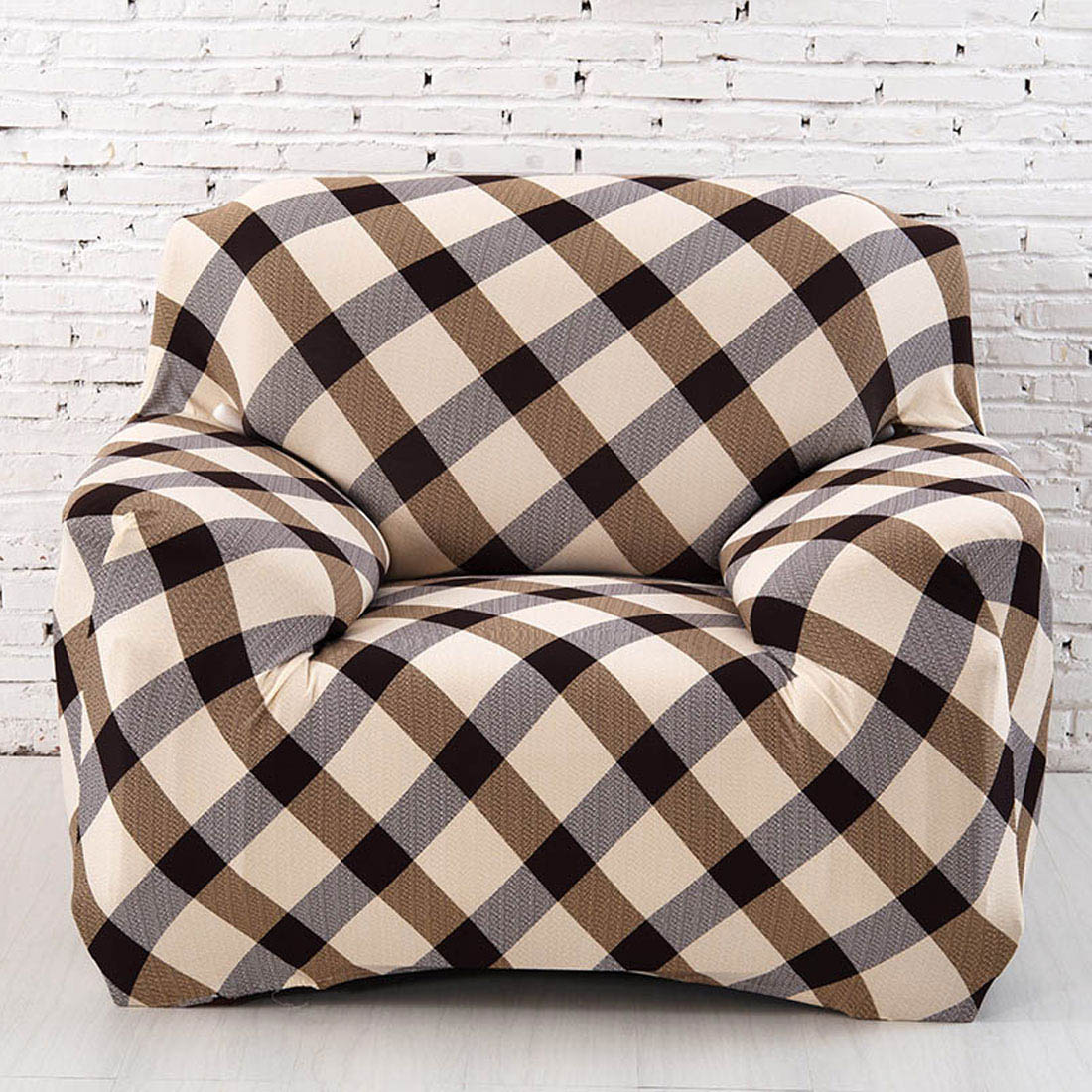 Uxcell Piccocasa Household Polyester Grid Pattern Elastic