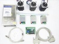 CNC Router Kit 3 Axis, 3 cái TB6600 4.5A stepper motor driver + 3 cái Nema23 312 Oz-in động cơ + 5 trục giao diện board + cung cấp điện