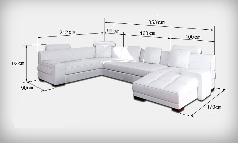 Popular long leather sofa buy cheap long leather sofa lots for Solde chaise medaillon