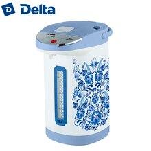 Термопот DELTA DL-3033. Объем 3,5л, контроль температуры, внутренняя ёмкость из нержавеющей стали, шкала уровня воды, 3 способа подачи воды:  ручной(помпа),автоматический(кнопка),электрический, съёмная крышка