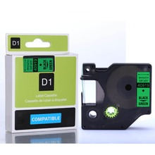 25 unids cinta 40919 fuente de la fábrica negro on adhesiva verde compatibles Dymo 9 mm cinta de etiquetas 40919 9 mm * 7 m ( trajes )