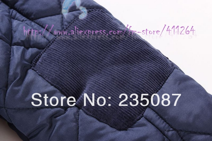fbec96bf23c5 7 8Y Boys Parkas Brand Quilted Hooded Jacket Winter Kids Outerwear ...