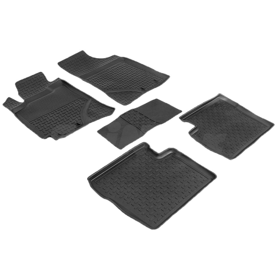 лучшая цена Rubber floor mats for Geely Emgrand EC7 2013 2014 2015 2016 2017 Seintex 84940