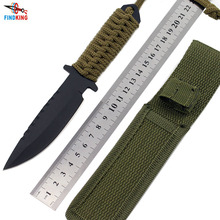 цена на FINDKING 7.5 Inch Combat Tactical Knife Camping knife Survival knife hunting knife with Nylon Sheath Fixed Blade