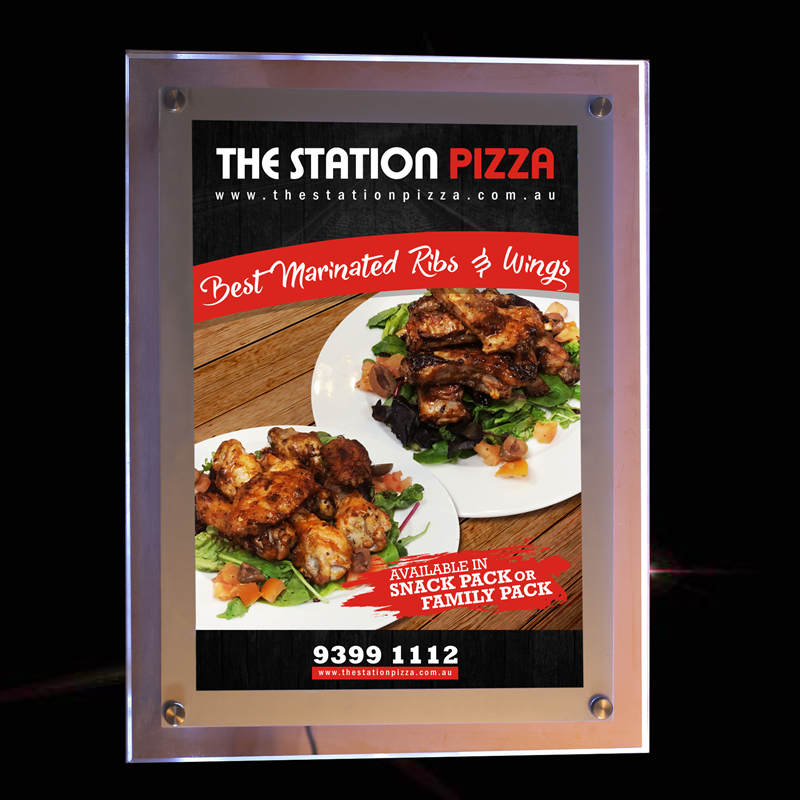 US $475 0  A2 led signs advertising display acrylic light box restaurant  slim lighted up menu panels-in Advertising Lights from Lights & Lighting on