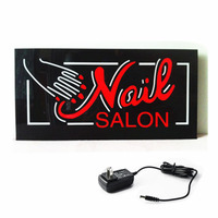 New Custom LED Open Signs NAIL SALON LED NAIL EPOXY SIGN Animated Motion Display Flashing On