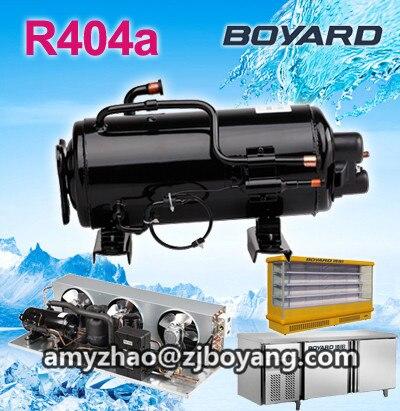 R404a 1.5HP horizontal refrigerator freezing compressor for supermarket displayer condensing unit r22 r404a 0 75hp horizontal refrigerator compressors for cake showcase