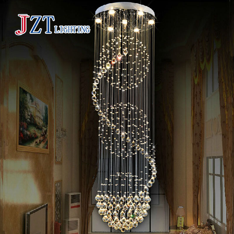 M Best Price 100cm Crystal Pendant Light Led Restaurant Lights Modern Brief Lamps Stair Lamp Large Pendant Light Many To Choose 2016 new luminaire lamparas pendant lights modern fashion crystal lamp restaurant brief decorative lighting pendant lamps 8869
