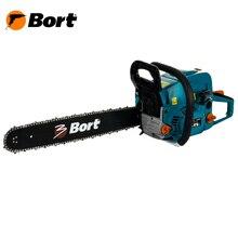 Цепная пила Bort BBK-2220 (Шина 20 дюйма, мощность 2200 Вт, легкий старт, материал корпуса устойчив к низким температурам, антивибрационная система)