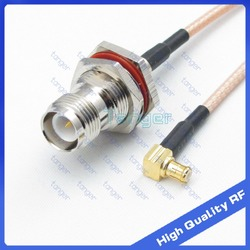 Tanger High Quality 6inch MCX male right angle to RP-TNC female jack with RG-316 RF Coaxial Pigtail Jumper cable 6
